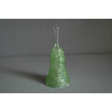 Zvonek skleněný 11cm zelený