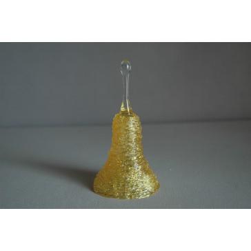 Zvonek skleněný 11cm žlutý