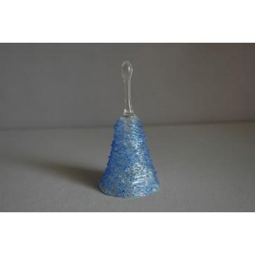 Zvonek skleněný 11cm modrý
