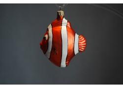 Christmas ornament, orange fish www.sklenenevyrobky.cz