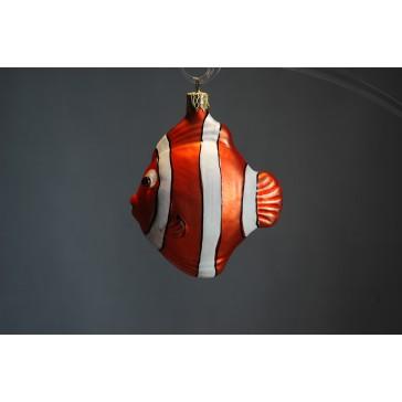 Vianočná ozdoba, ryba oranžová www.sklenenevyrobky.cz